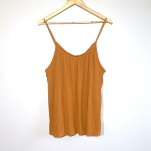 H&M Rust Orange Crepe Tank Top Swing Camisole